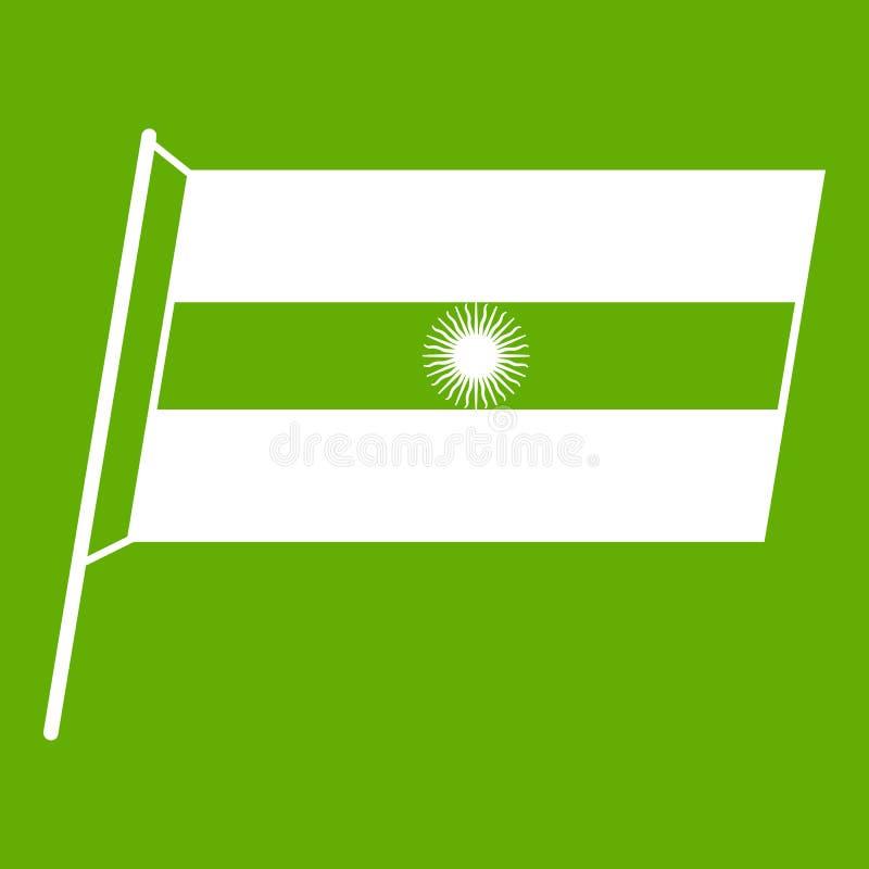 Flaga Argentyna ikony zieleń ilustracja wektor
