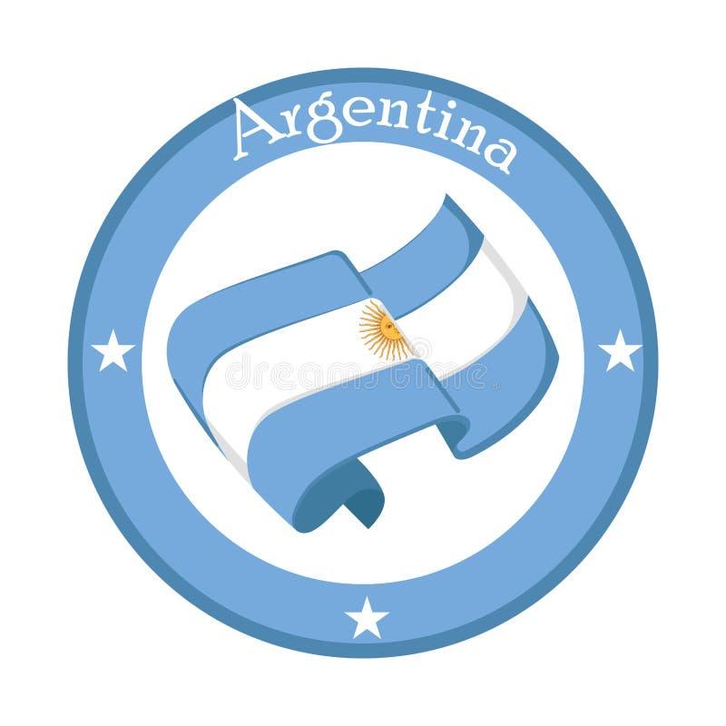 Flaga Argentyna na etykietce royalty ilustracja