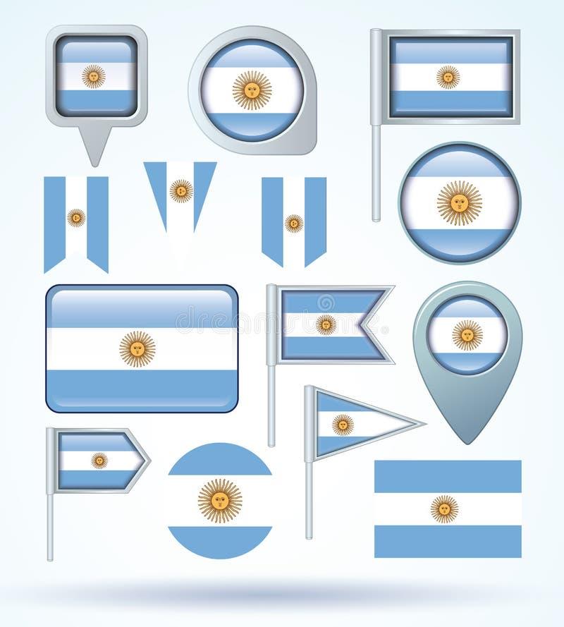 Flaga Argentyna, wektorowa ilustracja royalty ilustracja