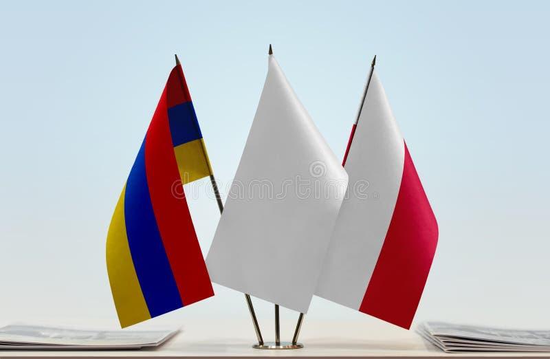 Flaga Armenia i Polska fotografia royalty free