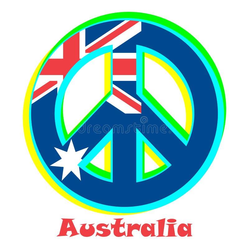 Flaga Australia jako znak pacyfizm ilustracji