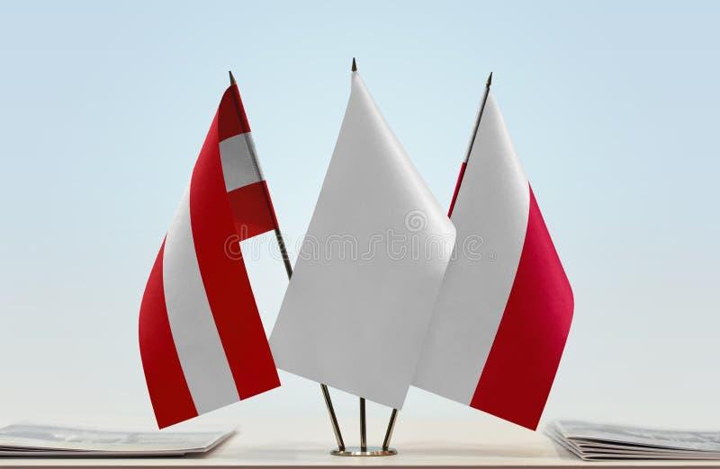 Flaga Austria i Polska fotografia stock
