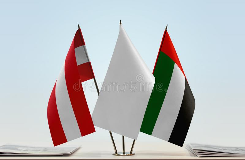 Flaga Austria i UAE obraz royalty free