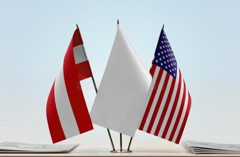 Flaga Austria i usa fotografia stock