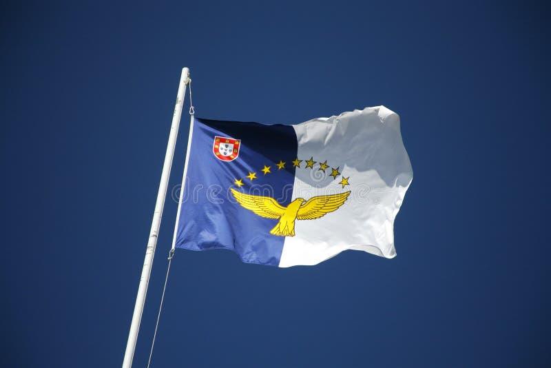Flaga Azores wyspy zdjęcie stock