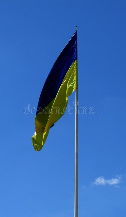Flaga błękit i kolorów żółtych kolory Symbol stan Ukraina obrazy stock