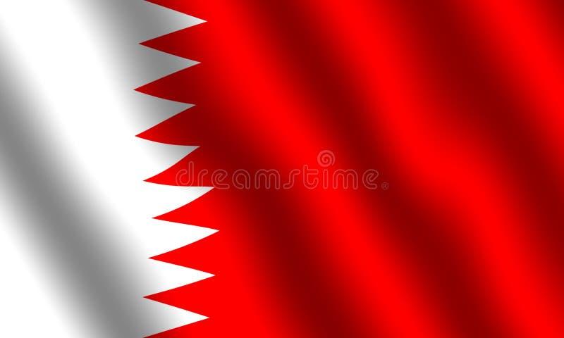 flaga bahrain ilustracji
