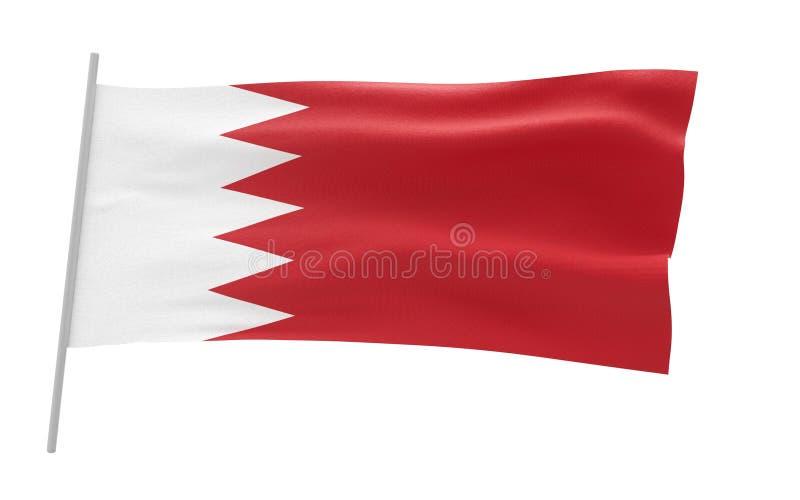 flaga bahrain ilustracja wektor