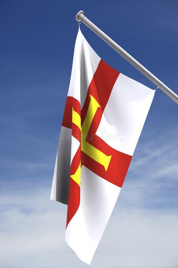 flaga bailiwick Guernsey obraz royalty free