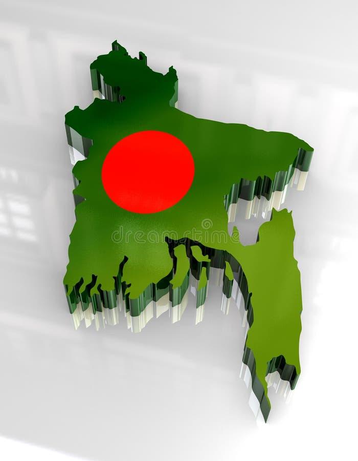 flaga Bangladesh mapy 3 d royalty ilustracja
