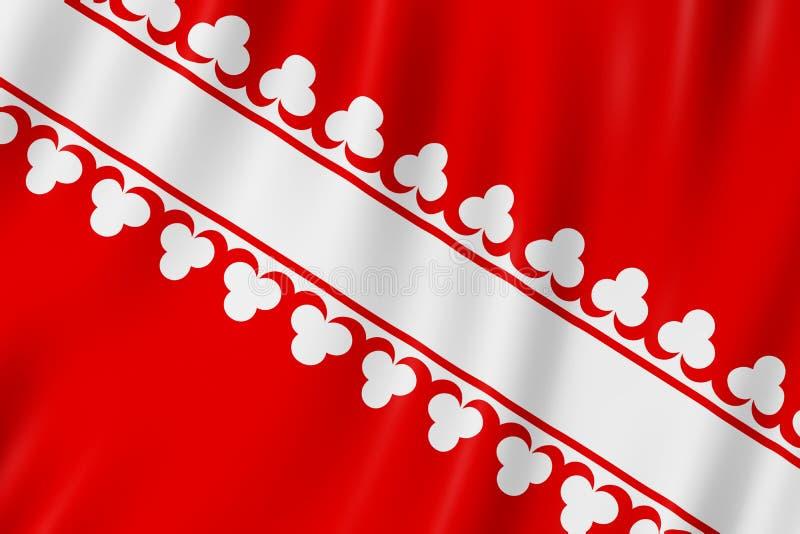 Flaga Bas-Rhin, Francja ilustracja wektor