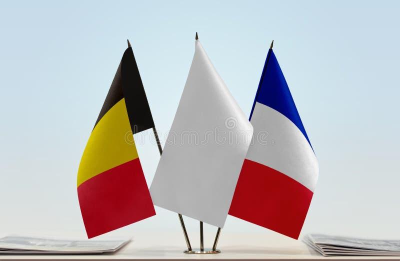Flaga Belgia i Francja fotografia stock
