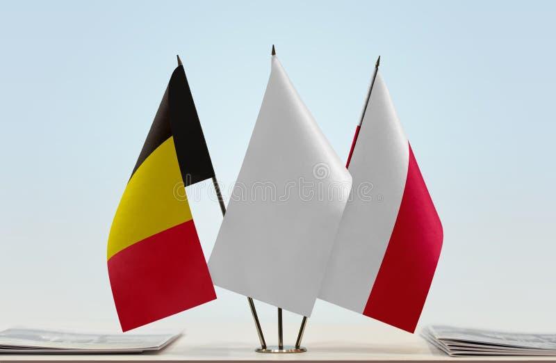 Flaga Belgia i Polska zdjęcie royalty free