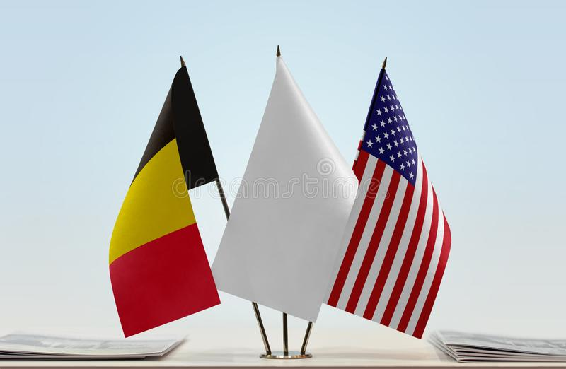 Flaga Belgia i usa fotografia royalty free