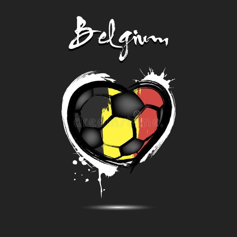 Flaga Belgia w postaci serca ilustracja wektor