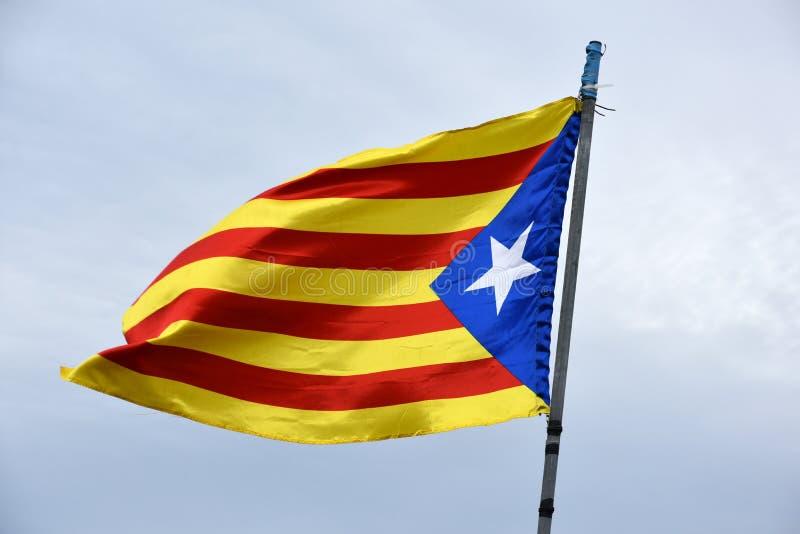 Flaga bezpartyjnik Catalonia zdjęcia stock