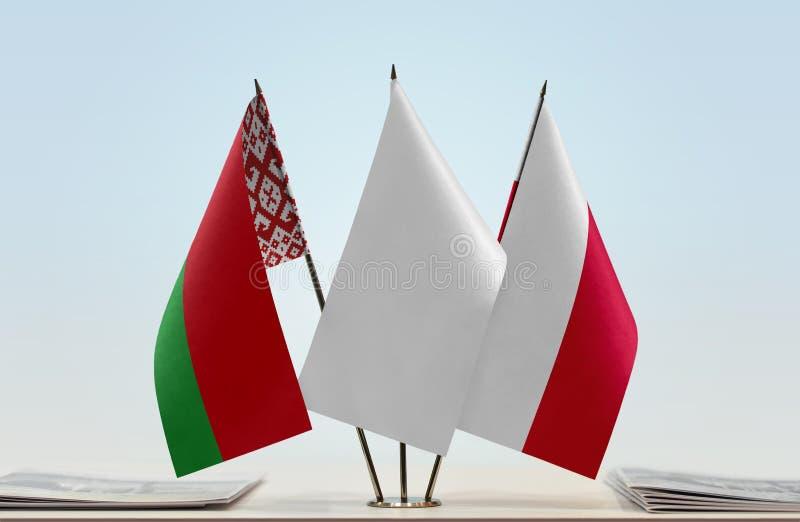 Flaga Białoruś i Polska obrazy stock