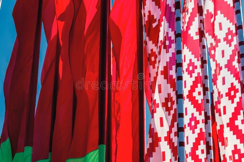 flaga białorusi fotografia stock