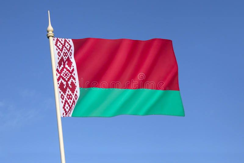 flaga białorusi obraz stock