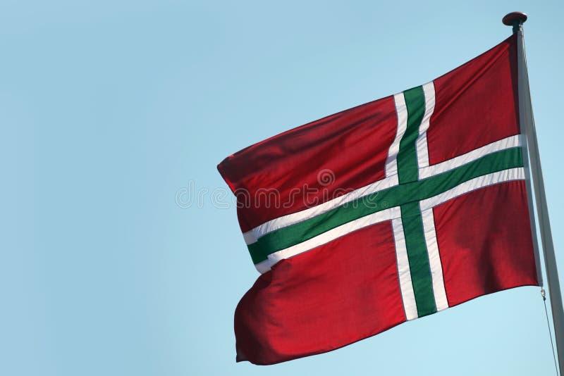 Flaga Bornholm - Duńska wyspa zdjęcie stock