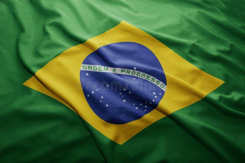 Flaga Brazylia zdjęcia stock