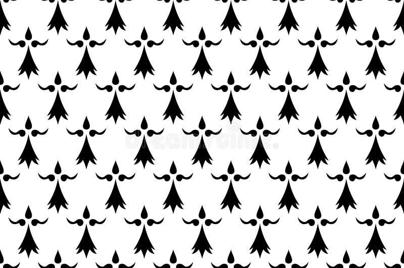 Flaga Brittany, Francja ilustracji