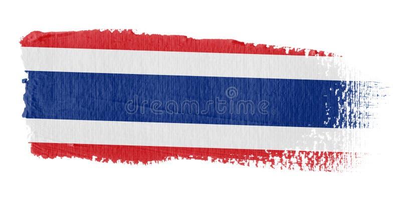 flaga brushstroke Thailand royalty ilustracja