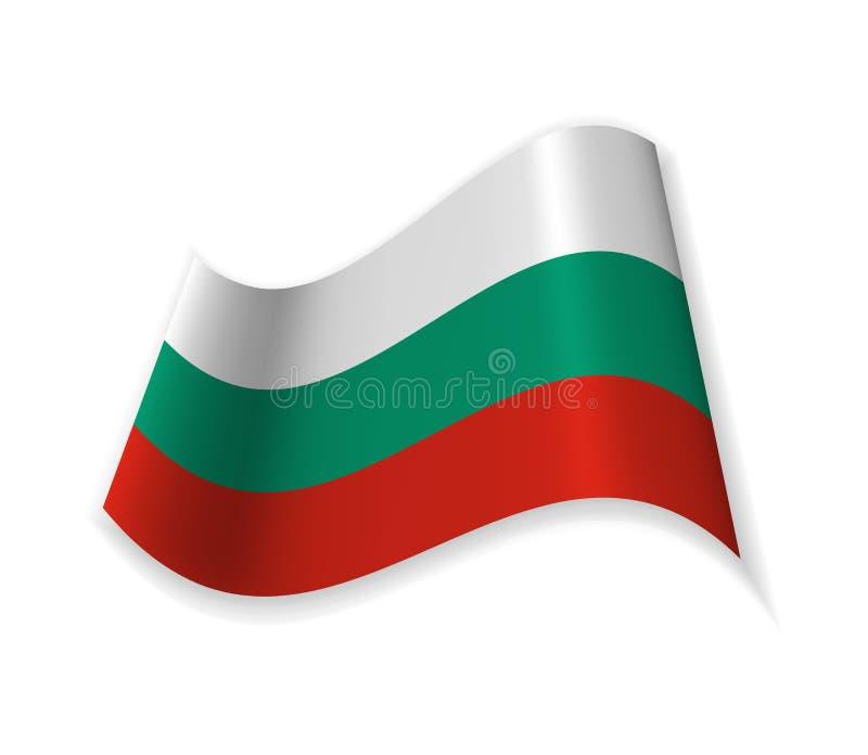 Flaga Bułgaria royalty ilustracja