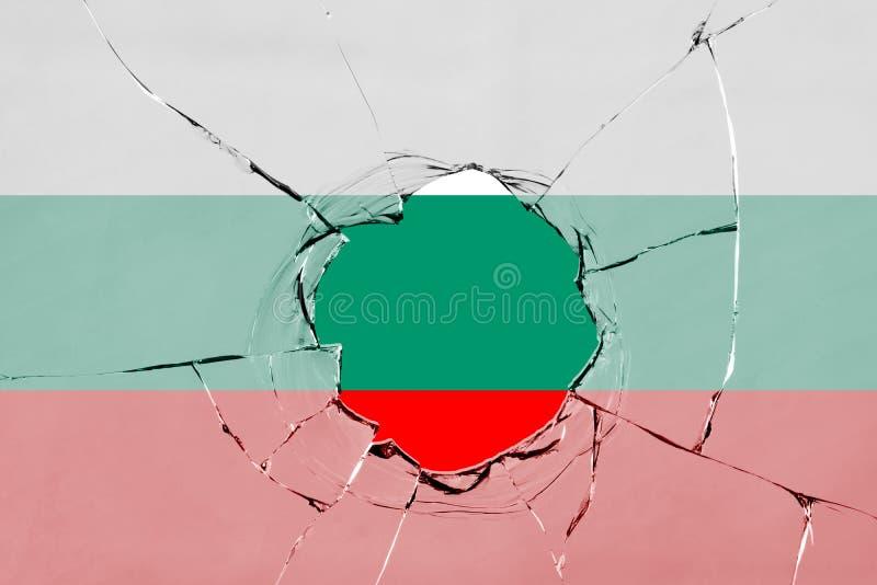 Flaga Bułgaria na szkle ilustracja wektor