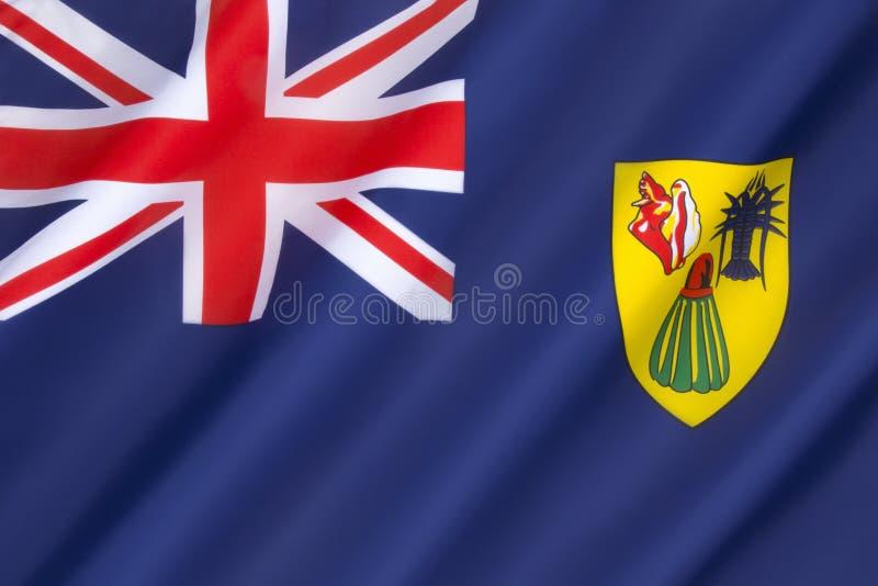 flaga caicos wysp turkowie obrazy stock