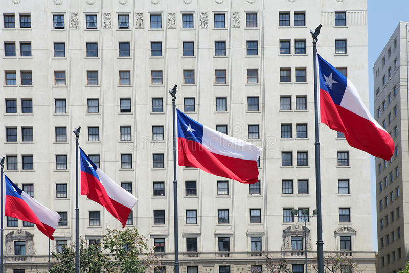 Flaga Chile, Chile zdjęcie royalty free