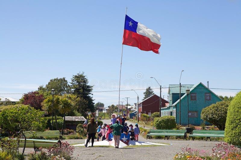 Flaga Chile, Chile zdjęcie stock