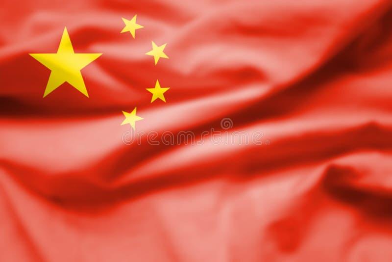 Flaga Chiny, także znać jako Grająca główna rolę czerwona flaga, jest czerwonym polem ładować w kantonie z pięć złotymi gwiazdami ilustracji
