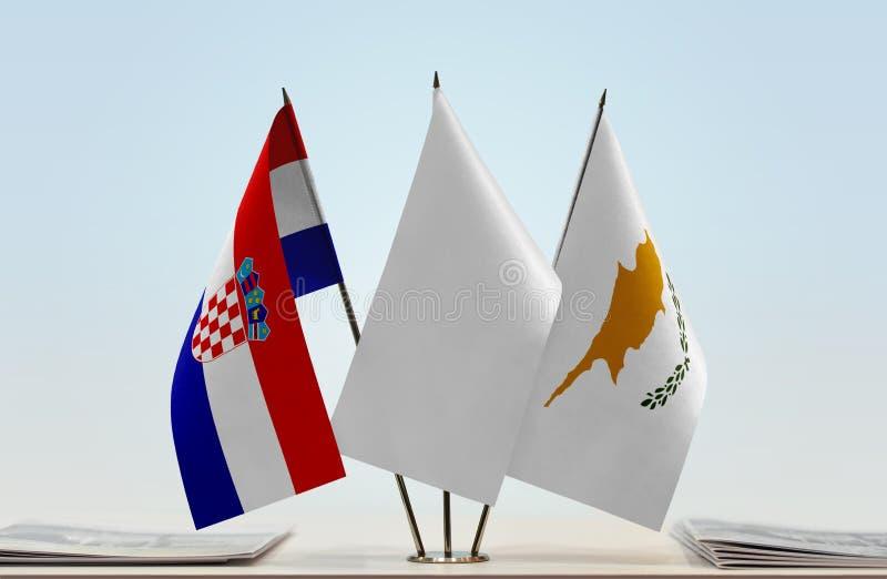 Flaga Chorwacja i Cypr fotografia stock