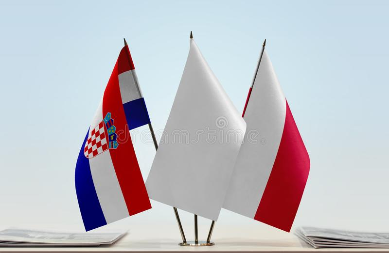 Flaga Chorwacja i Polska zdjęcia stock