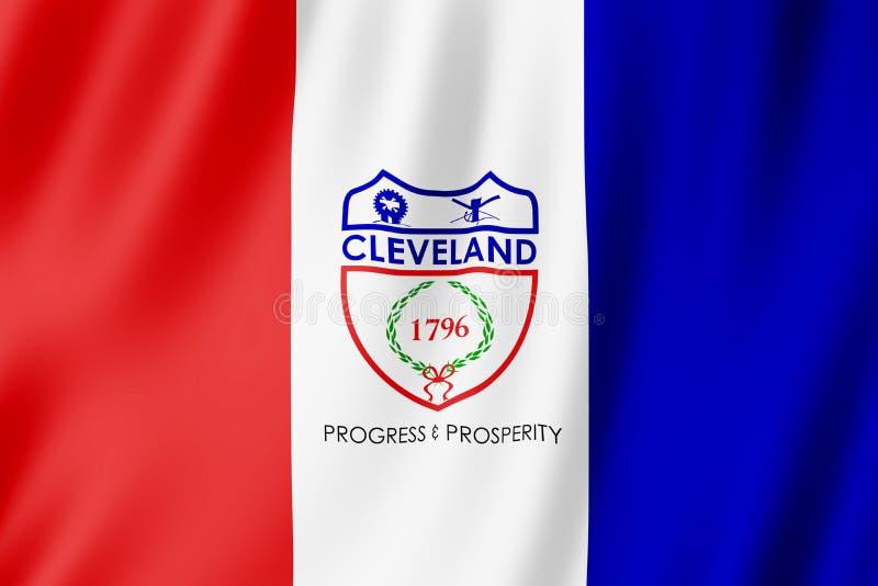 Flaga Cleveland miasto, Ohio USA ilustracji
