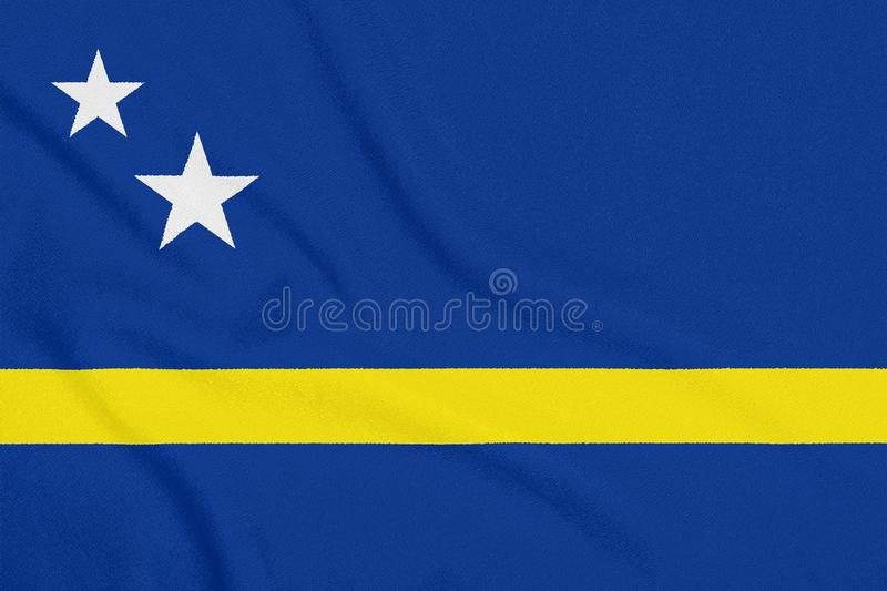 Flaga Curacao na textured tkaninie patriotyczny symbol obraz stock