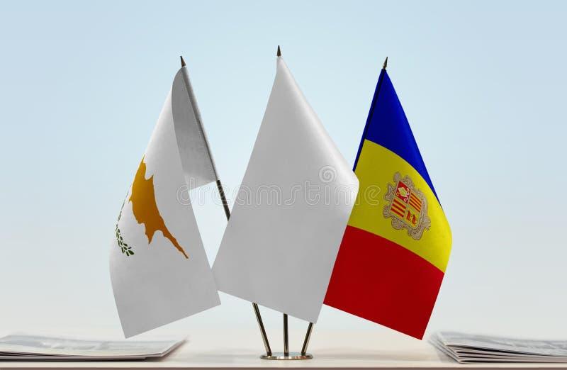 Flaga Cypr i Andorra zdjęcia stock