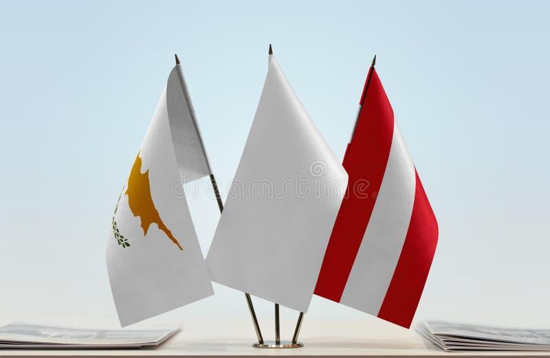 Flaga Cypr i Austria zdjęcia royalty free