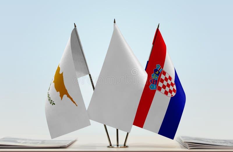 Flaga Cypr i Chorwacja fotografia stock