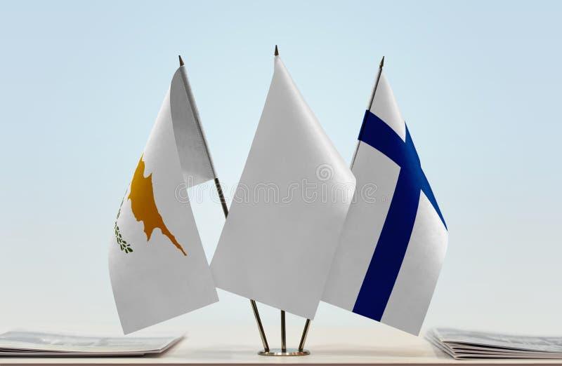 Flaga Cypr i Finlandia zdjęcie stock