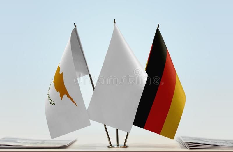 Flaga Cypr i Niemcy obraz stock