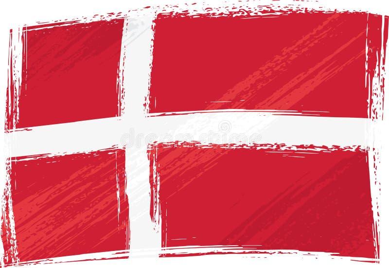 flaga denmark crunch ilustracji