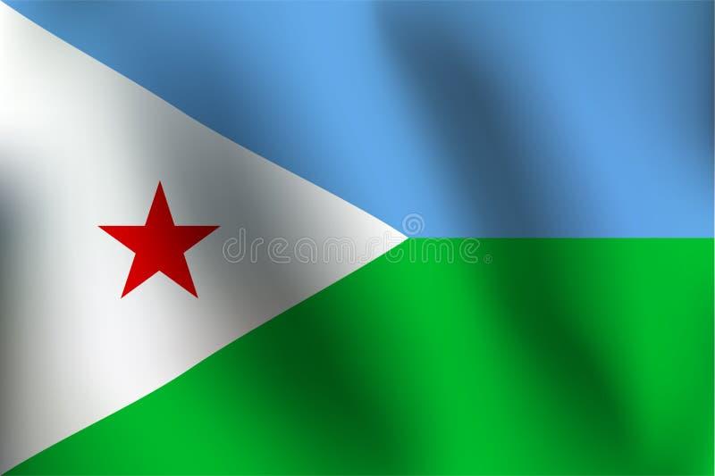 Flaga Djibouti - Wektorowa ilustracja ilustracji