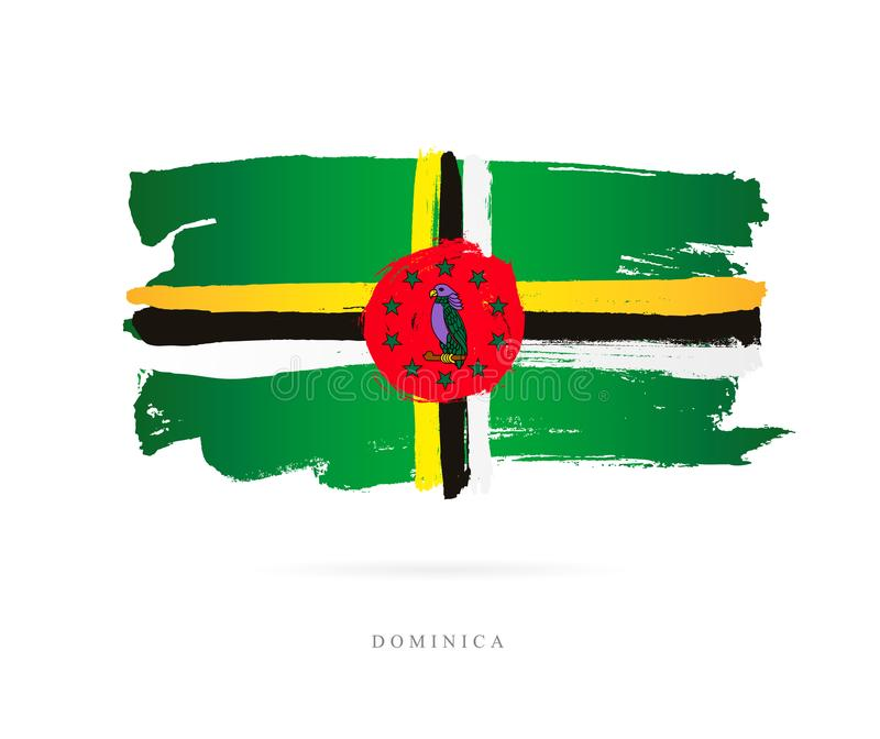 flaga dominiki Abstrakcjonistyczny pojęcie ilustracja wektor