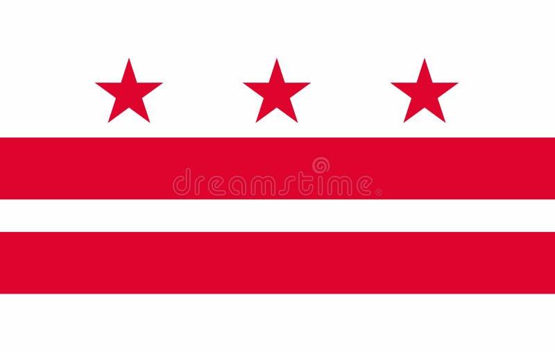 Flaga dystryktu kolumbii stan Stany Zjednoczone ilustracja wektor
