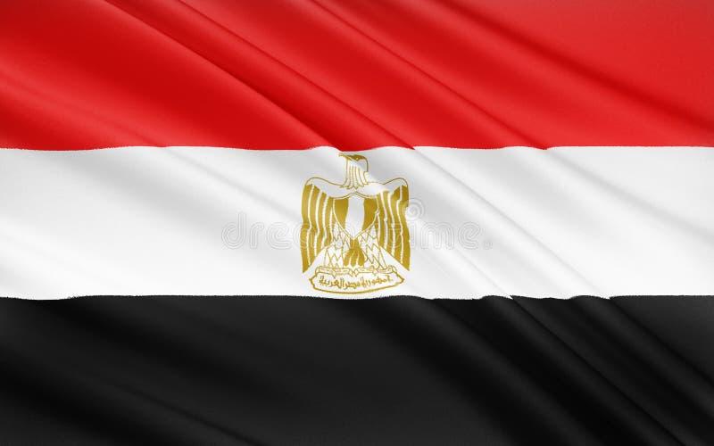 Flaga Egipt, Kair obraz stock
