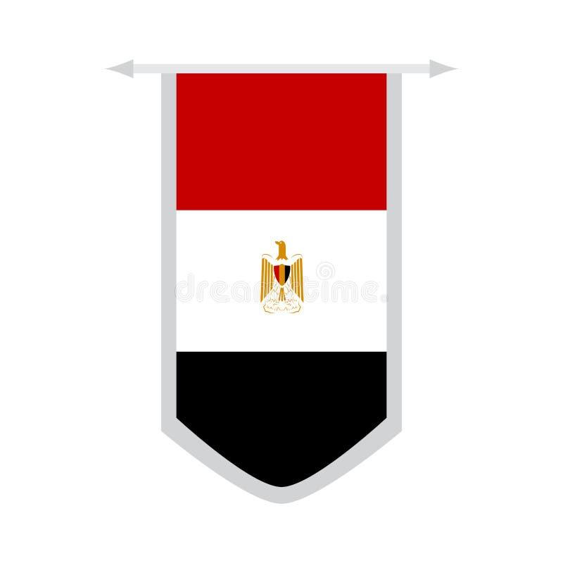 Flaga Egipt na sztandarze royalty ilustracja