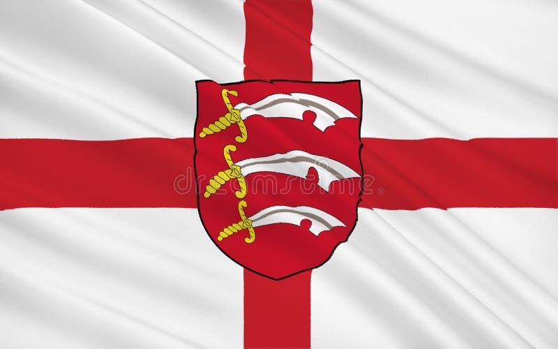 Flaga Essex jest okręgiem administracyjnym, Anglia zdjęcie royalty free
