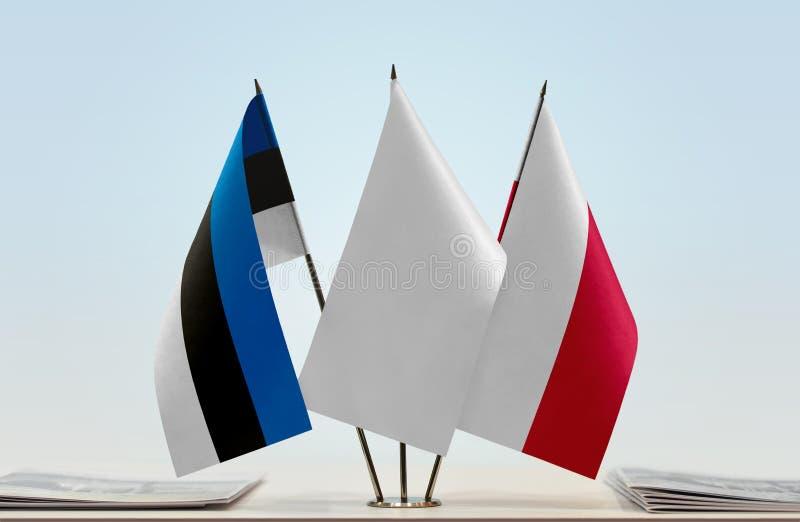 Flaga Estonia i Polska obrazy royalty free